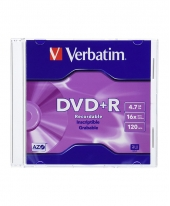 Verbatim DVD+R (4.7GB) 16x [Slim Case]